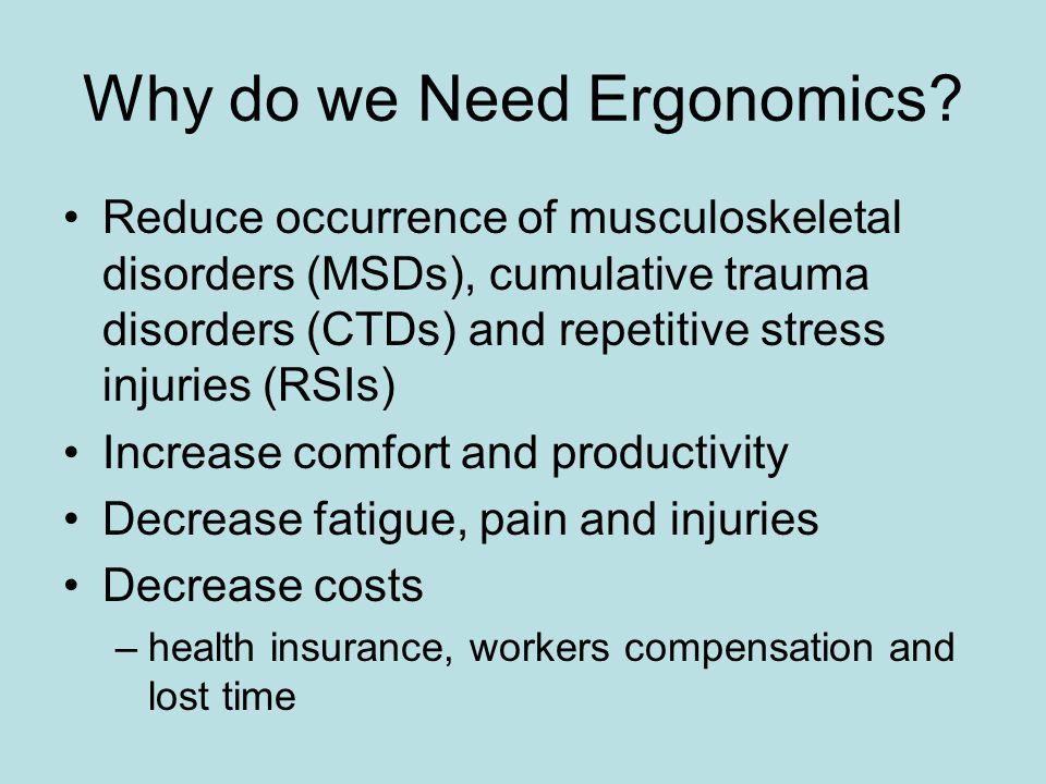 Why do we Need Ergonomics