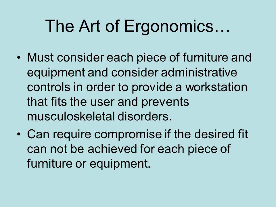 The Art of Ergonomics…