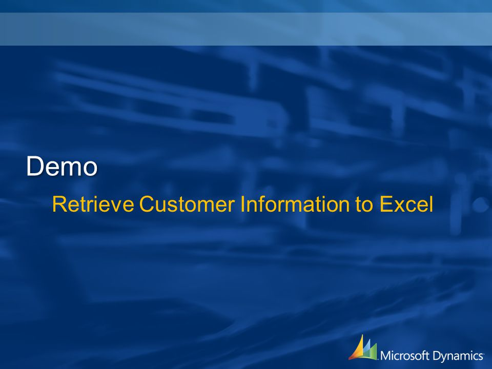 Retrieve Customer Information to Excel