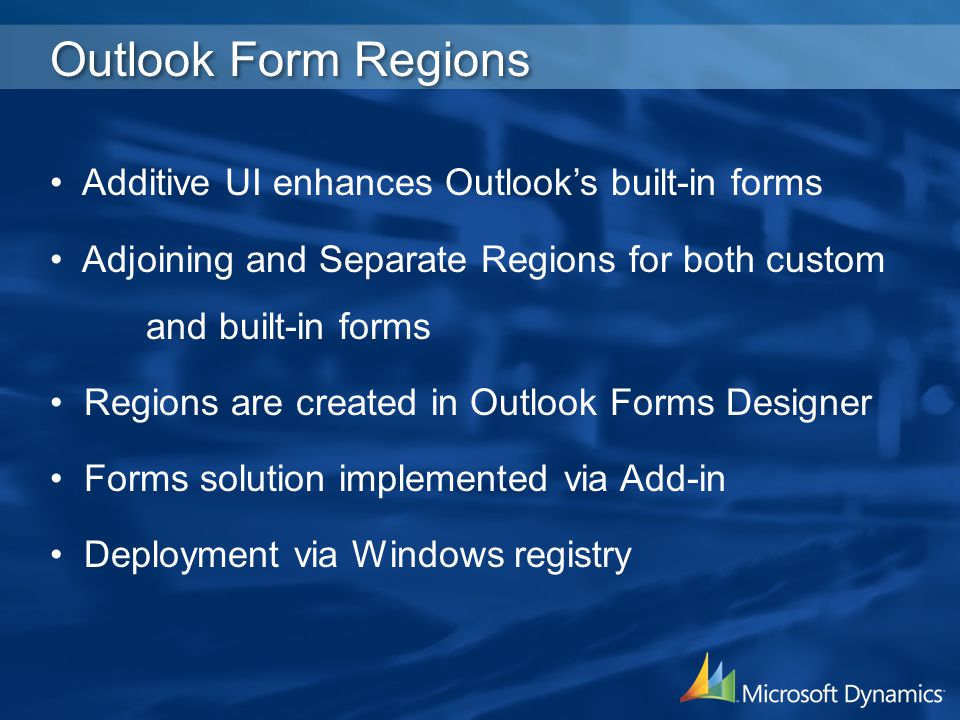 Outlook Form Regions Additive UI enhances Outlook's built-in forms