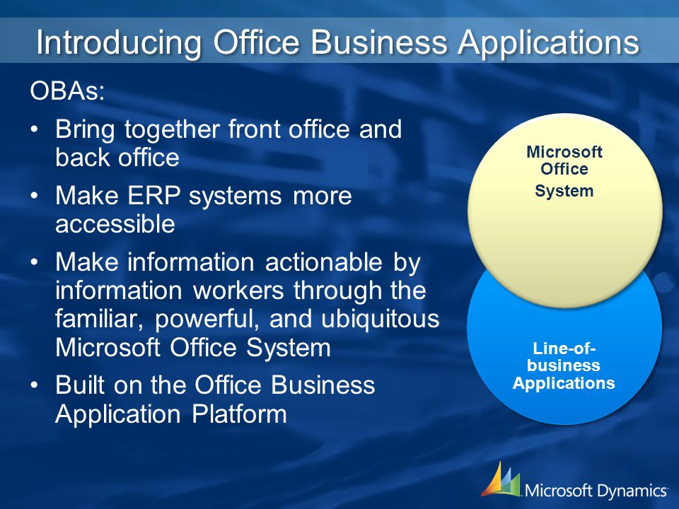 Introducing Office Business Applications