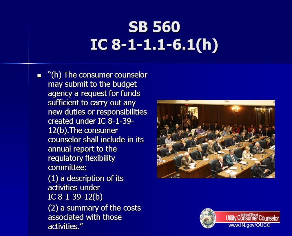 SB 560 IC 8-1-1.1-6.1(h)