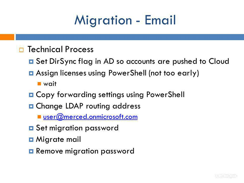 Migration - Email Technical Process