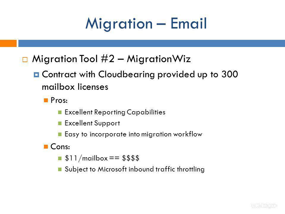 Migration – Email Migration Tool #2 – MigrationWiz