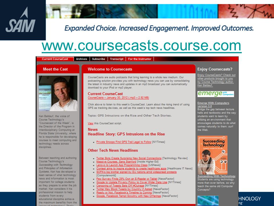 www.coursecasts.course.com