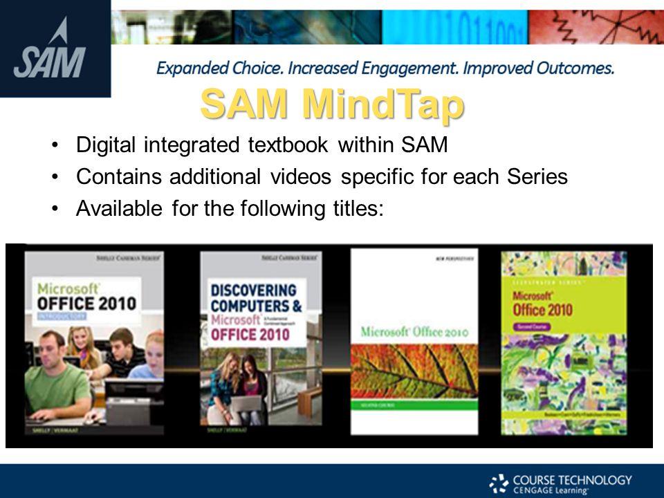 SAM MindTap Digital integrated textbook within SAM