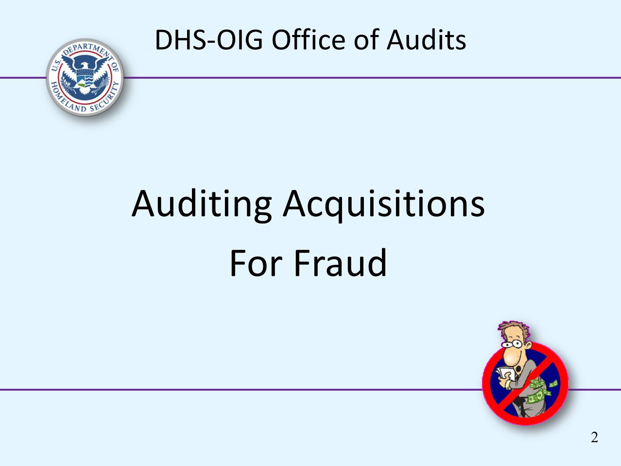 Auditing Acquisitions For Fraud