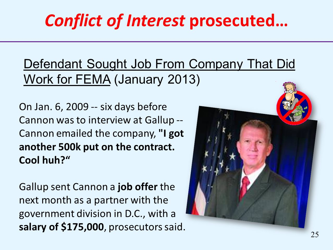 Conflict of Interest prosecuted…