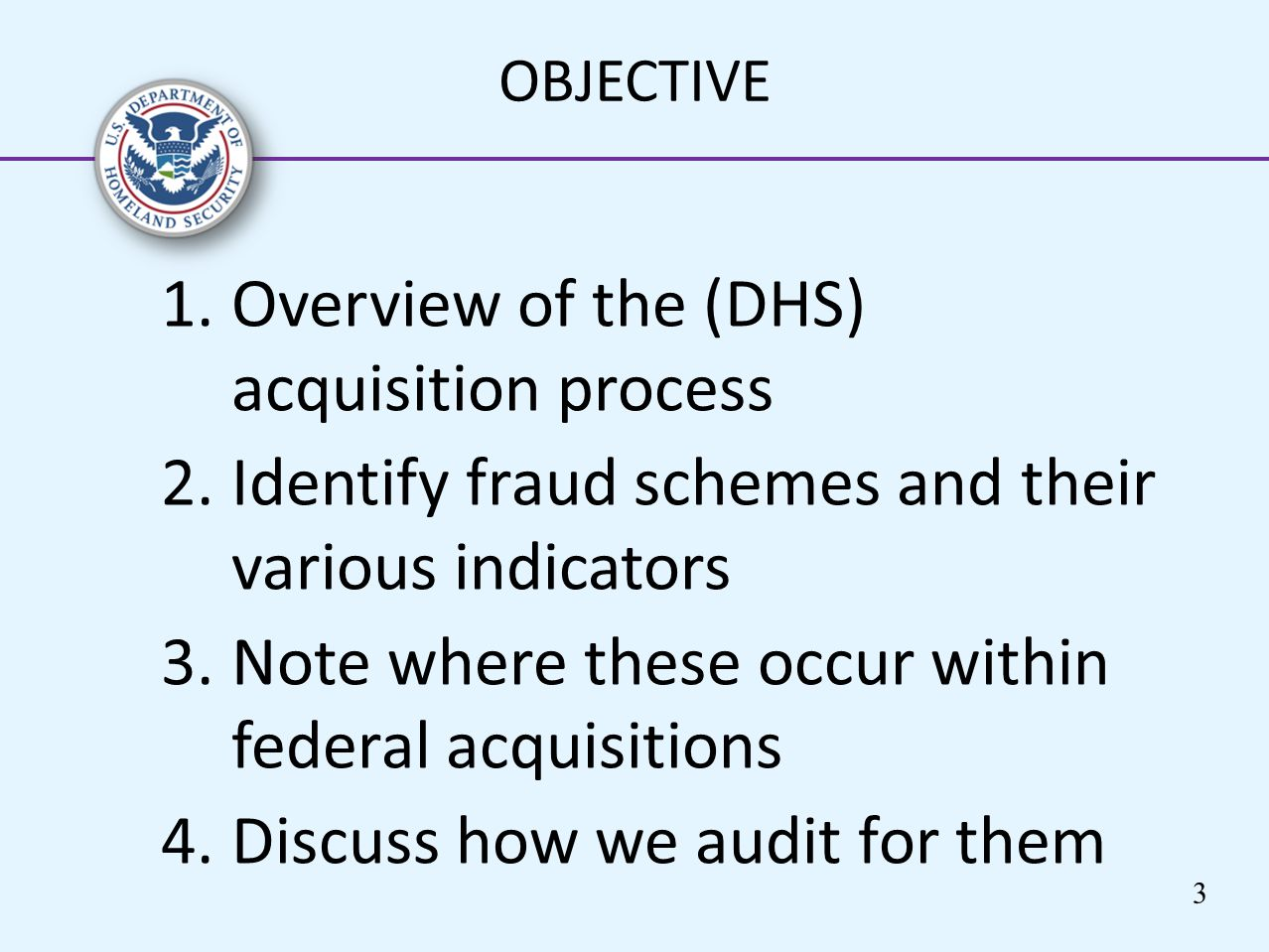 Overview of the (DHS) acquisition process