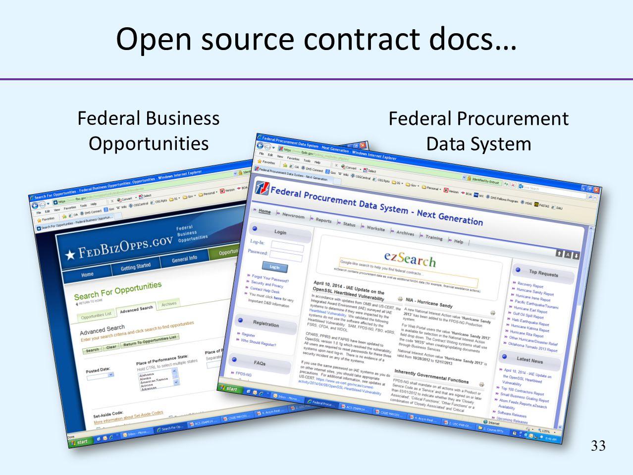 Open source contract docs…