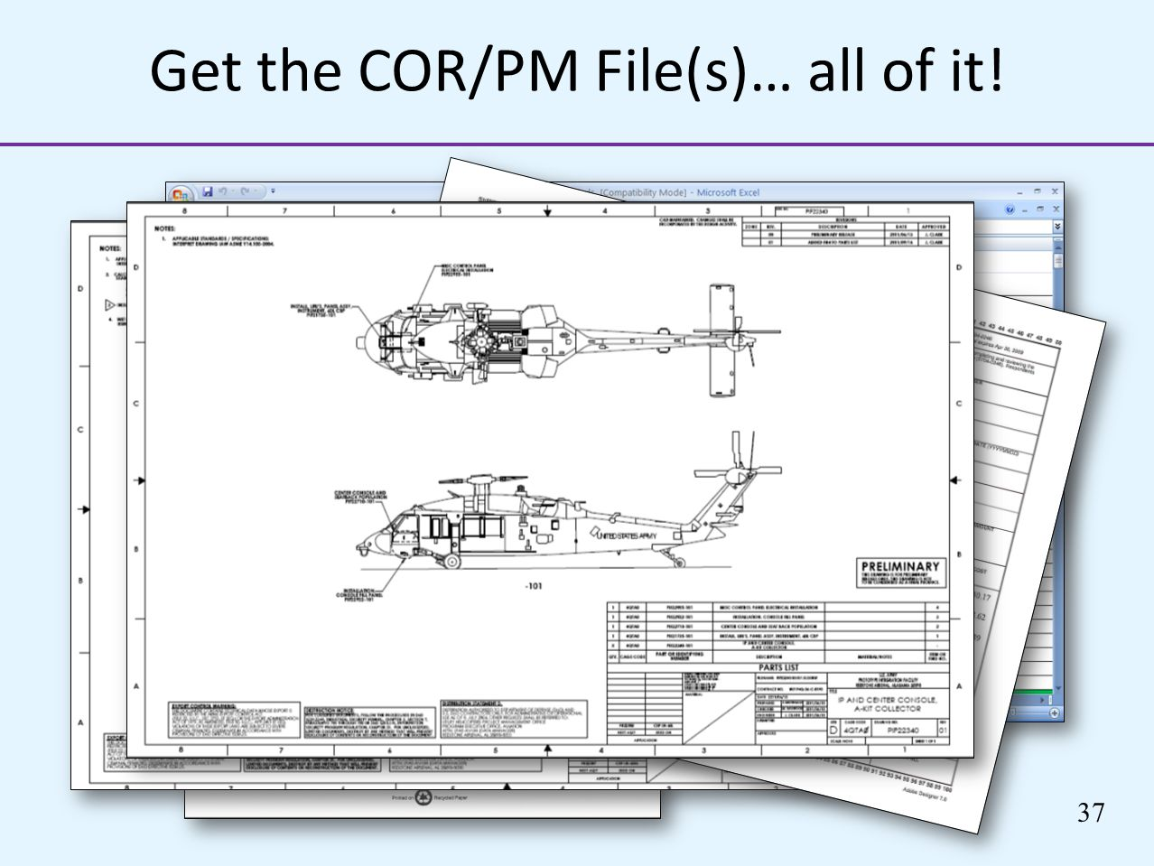 Get the COR/PM File(s)… all of it!