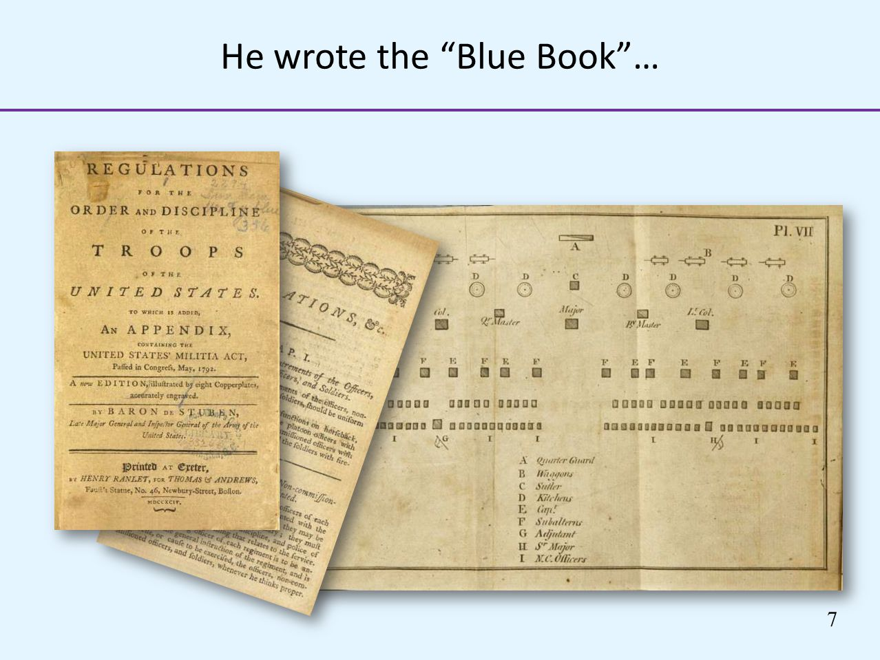 He wrote the Blue Book …