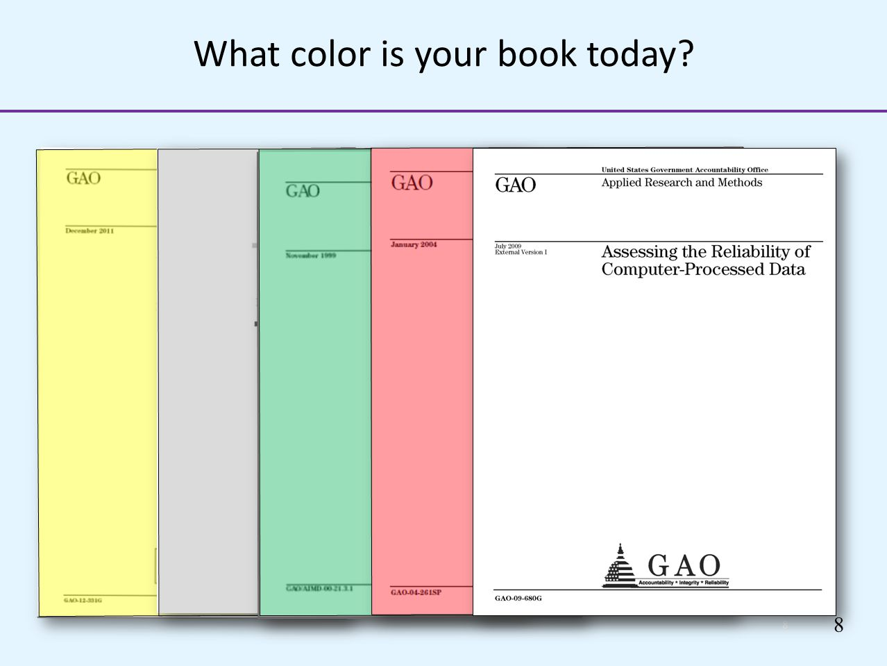 What color is your book today