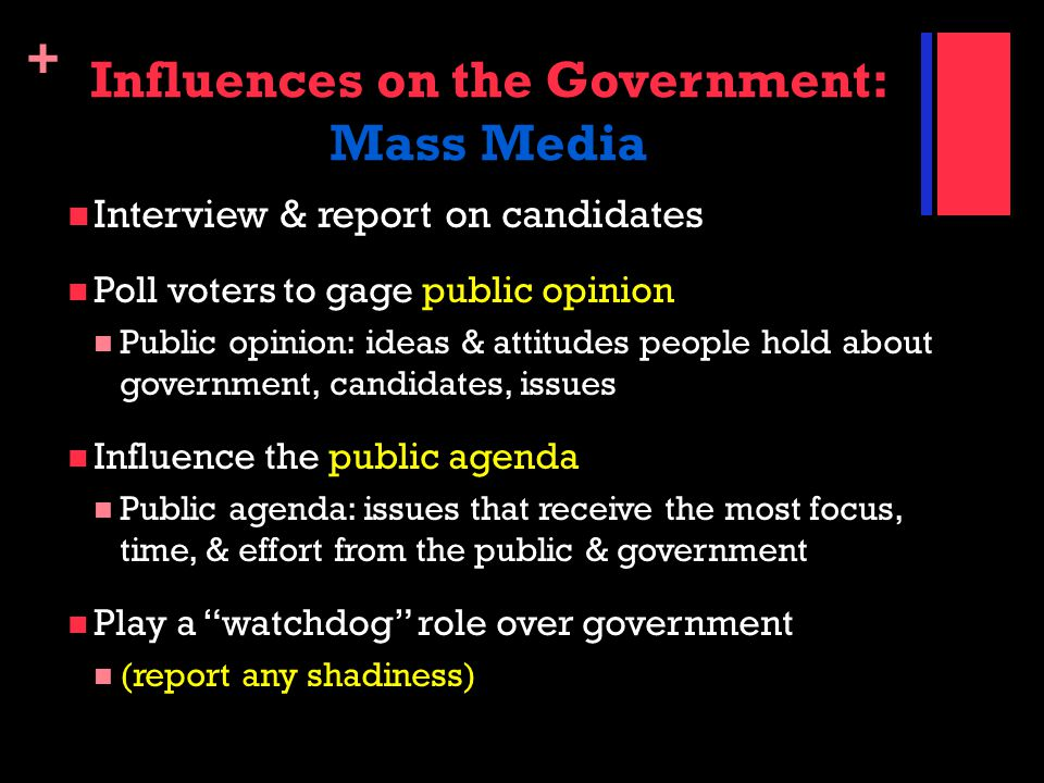 Influences on the Government: Mass Media