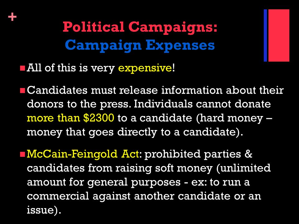 Political Campaigns: Campaign Expenses