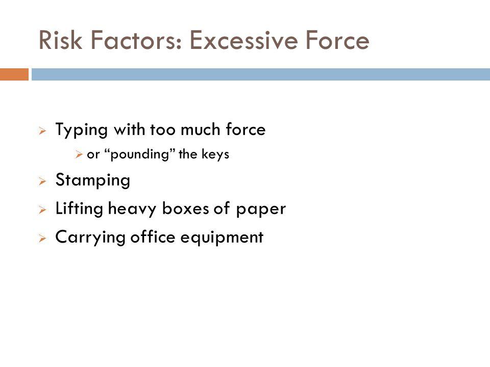 Risk Factors: Excessive Force