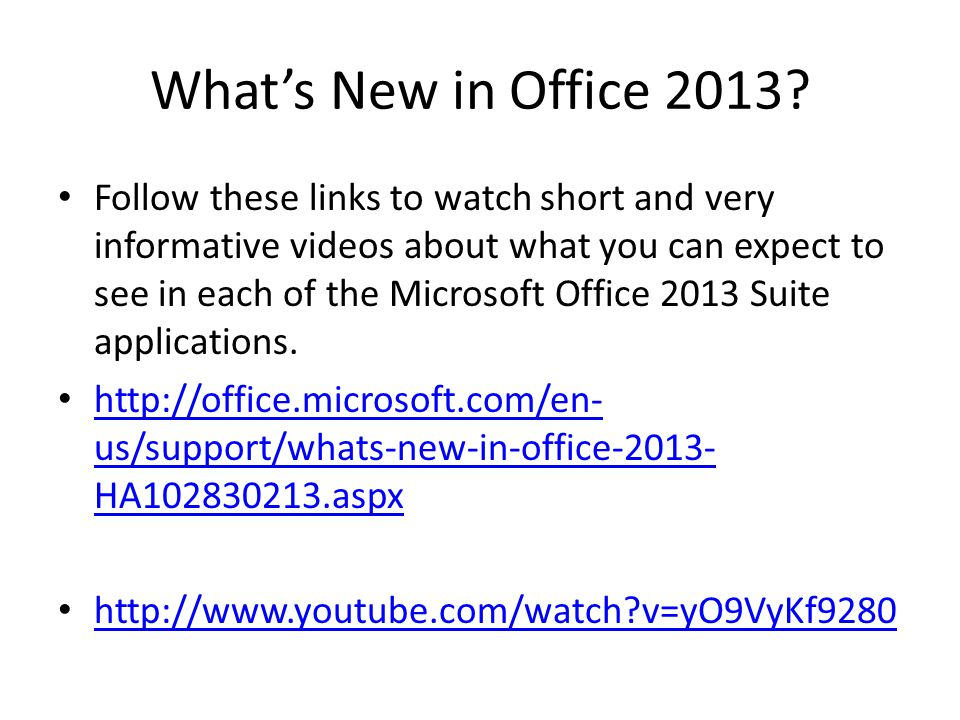 What's New in Office 2013