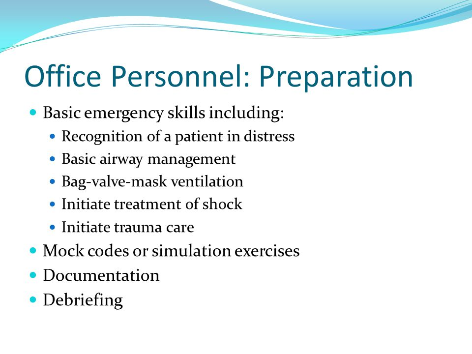 Office Personnel: Preparation