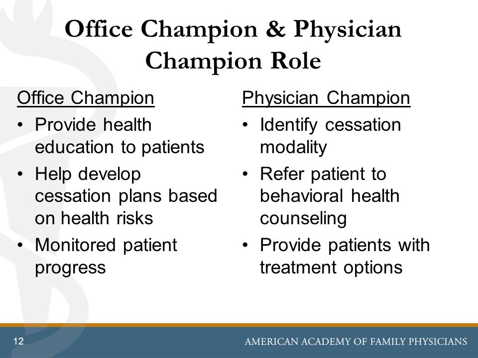 Office Champion & Physician Champion Role