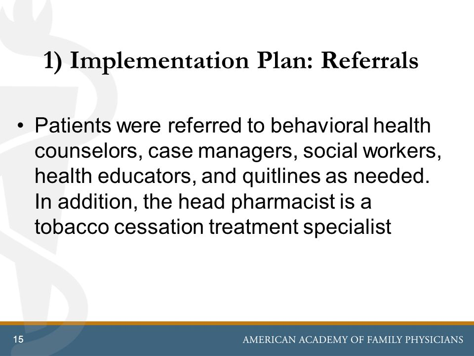 1) Implementation Plan: Referrals