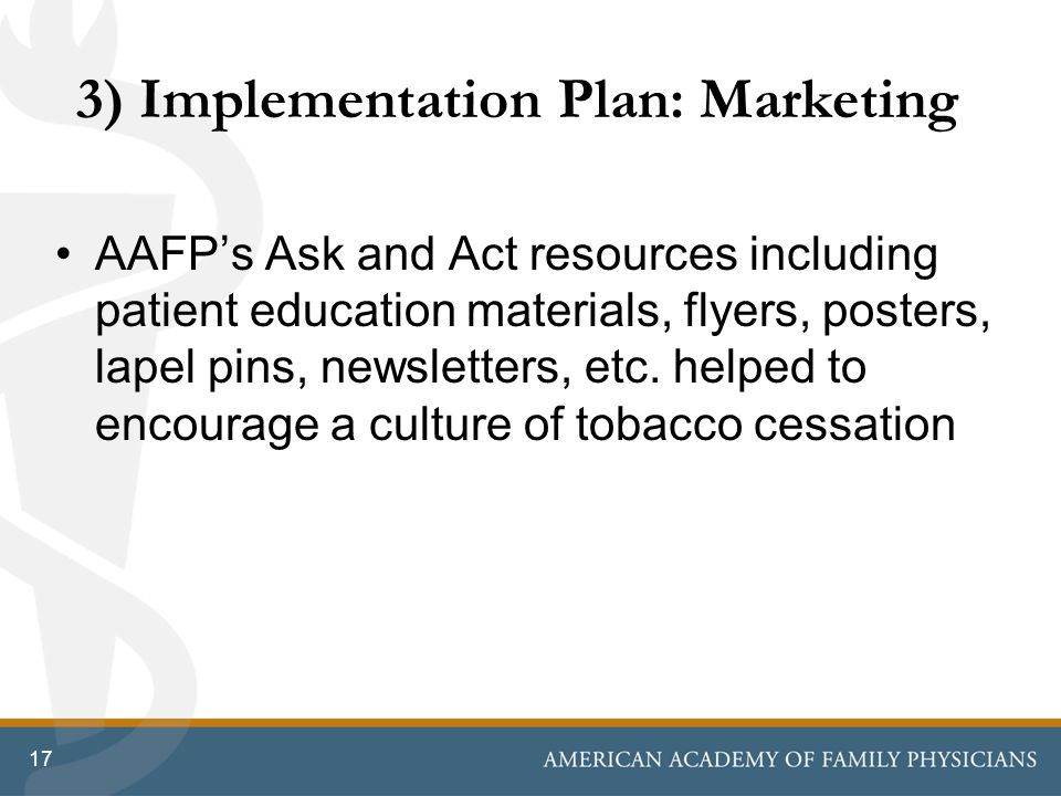 3) Implementation Plan: Marketing