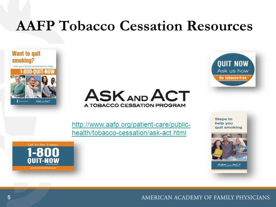 AAFP Tobacco Cessation Resources