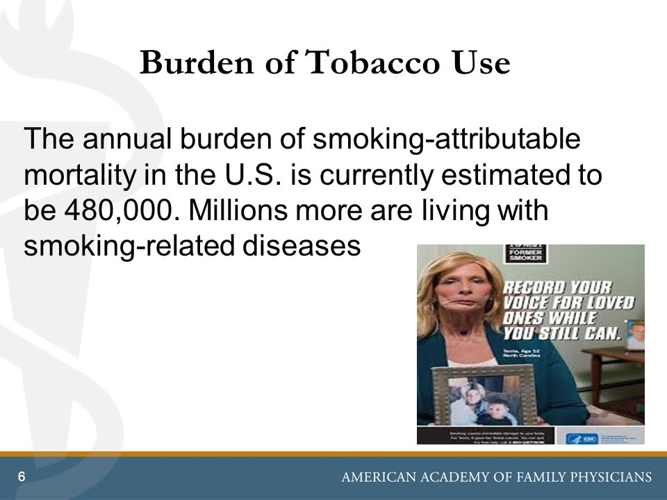 Burden of Tobacco Use