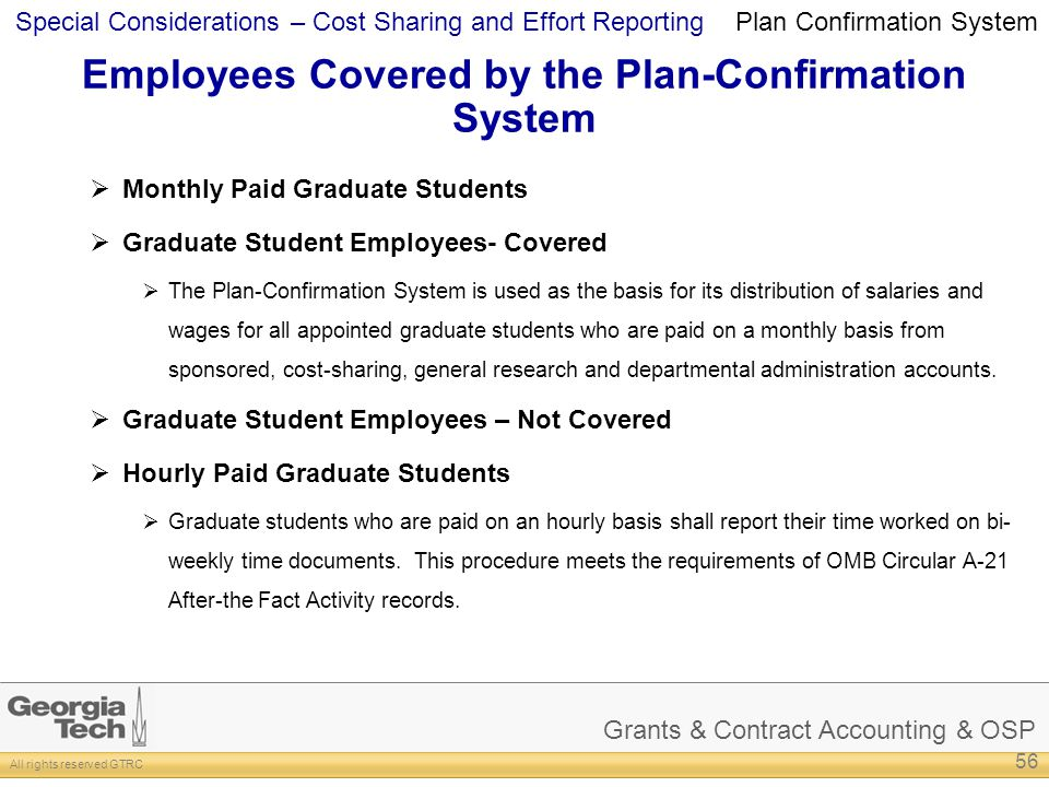 Employees Covered by the Plan-Confirmation System