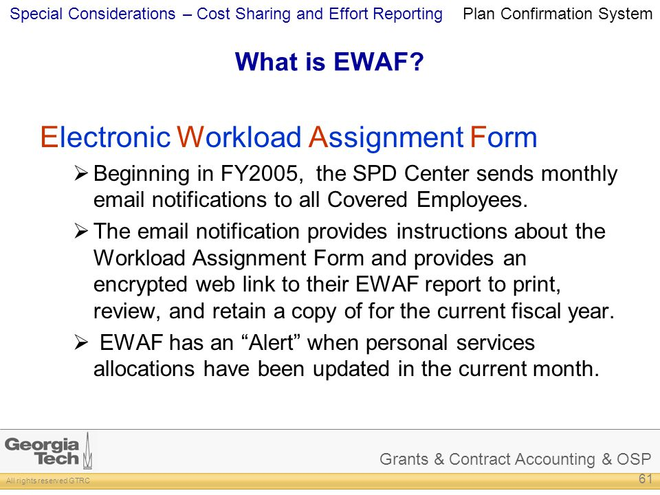 Electronic Workload Assignment Form