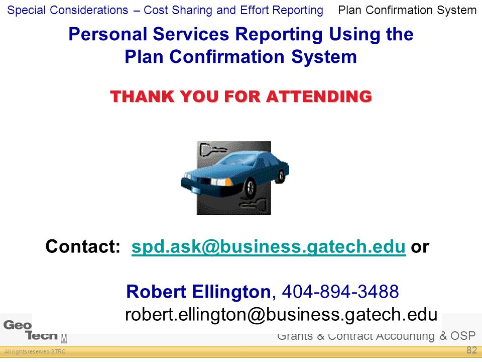 Personal Services Reporting Using the Plan Confirmation System