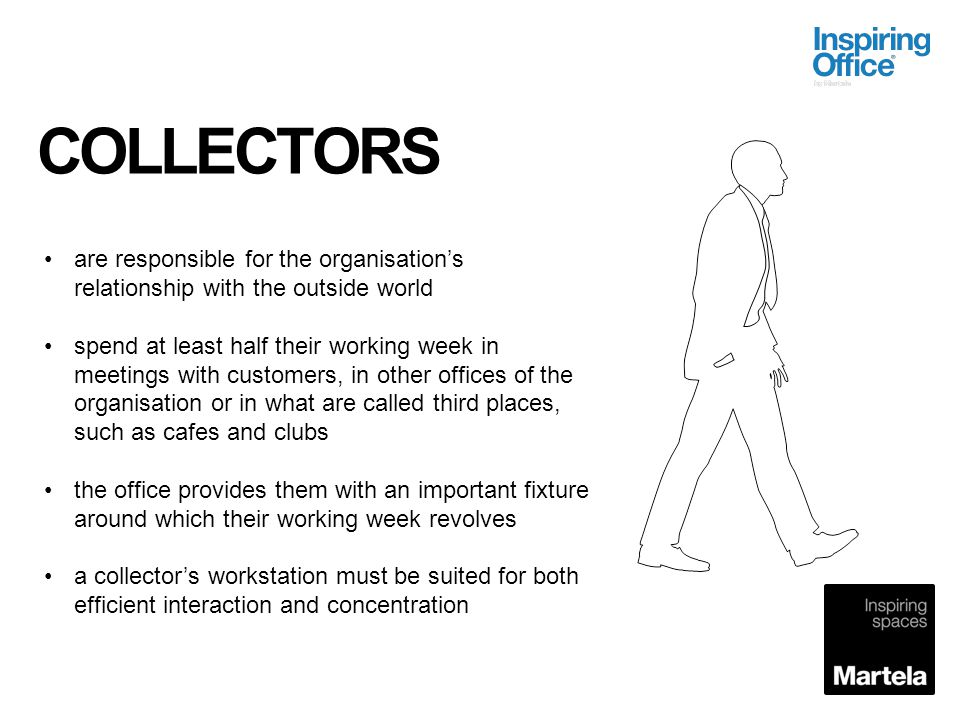 COLLECTORS are responsible for the organisation's relationship with the outside world.