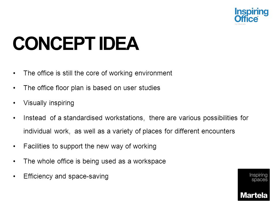 CONCEPT IDEA The office is still the core of working environment
