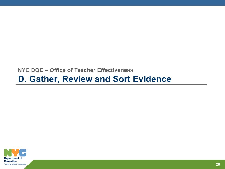 NYC DOE – Office of Teacher Effectiveness D
