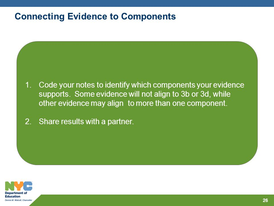 Connecting Evidence to Components