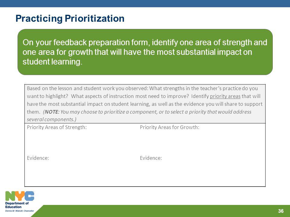 Practicing Prioritization