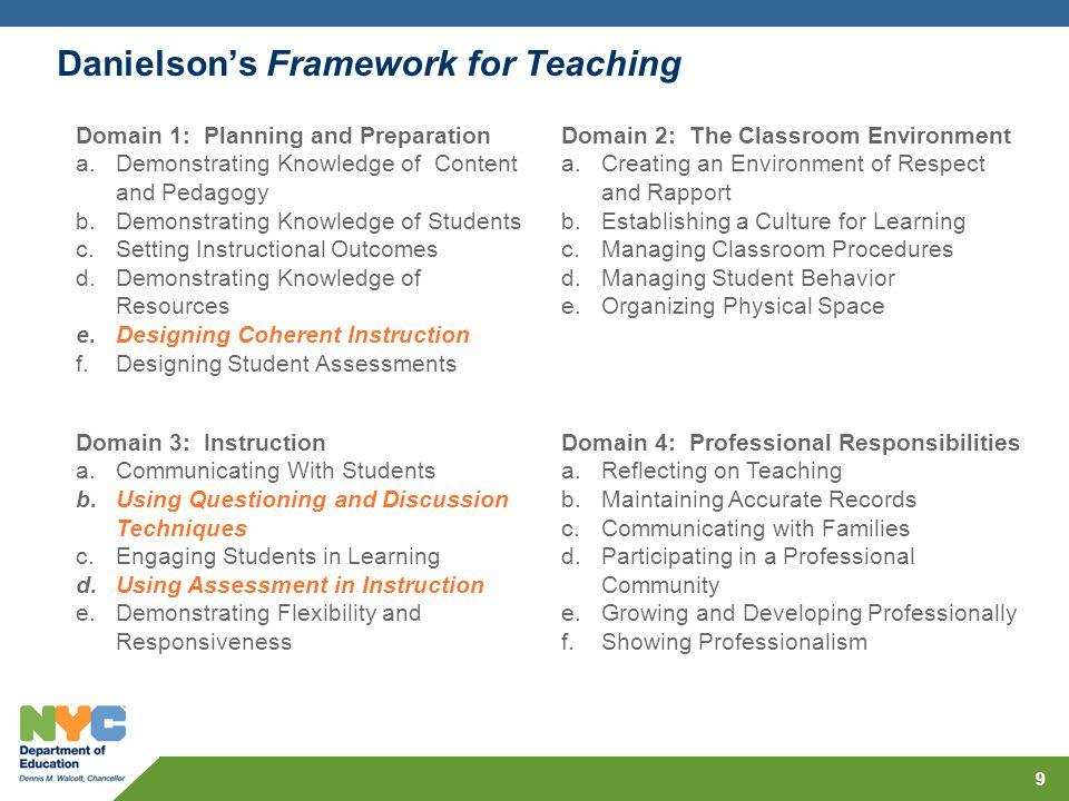 Danielson's Framework for Teaching