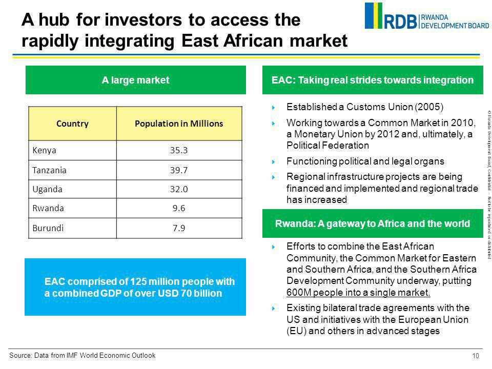 A hub for investors to access the rapidly integrating East African market