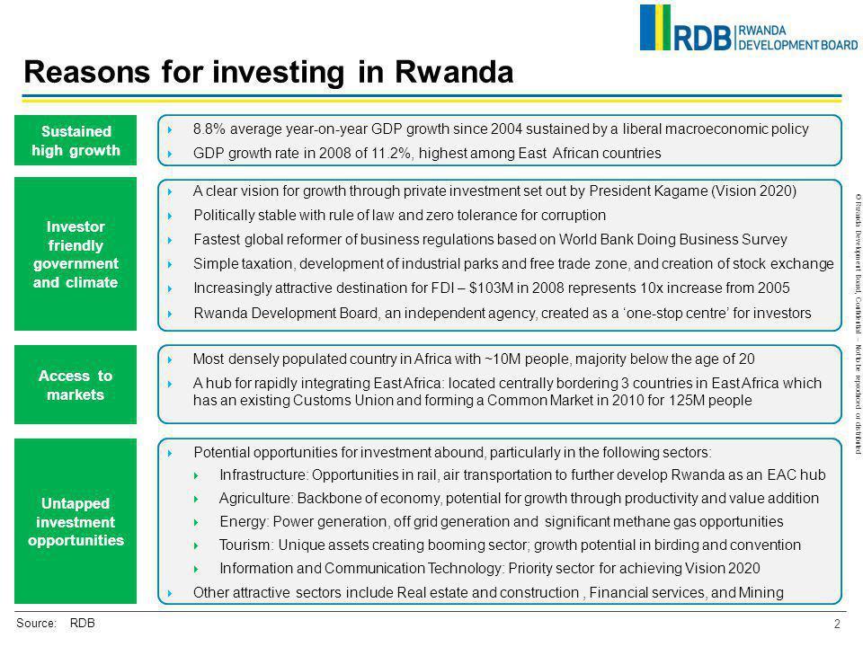 Reasons for investing in Rwanda