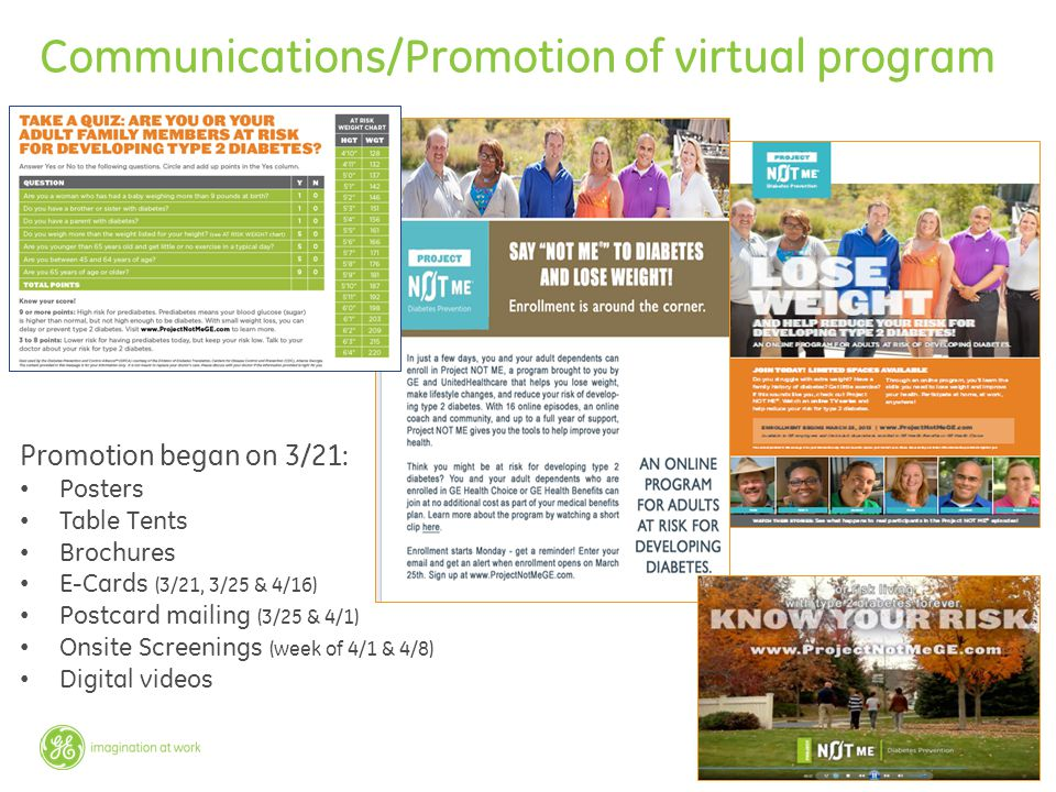 Communications/Promotion of virtual program