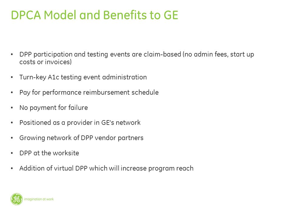 DPCA Model and Benefits to GE