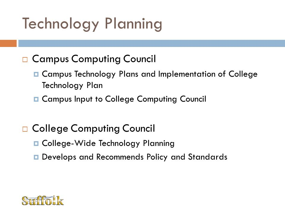 Technology Planning Campus Computing Council College Computing Council