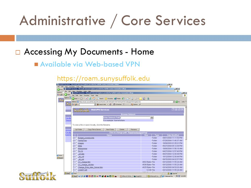 Administrative / Core Services
