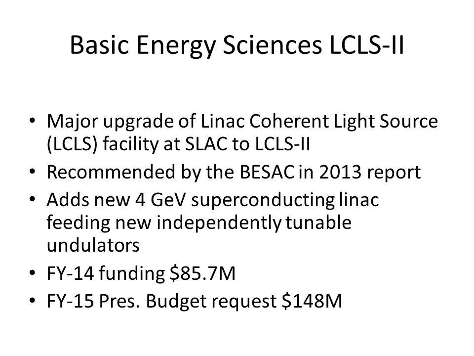Basic Energy Sciences LCLS-II