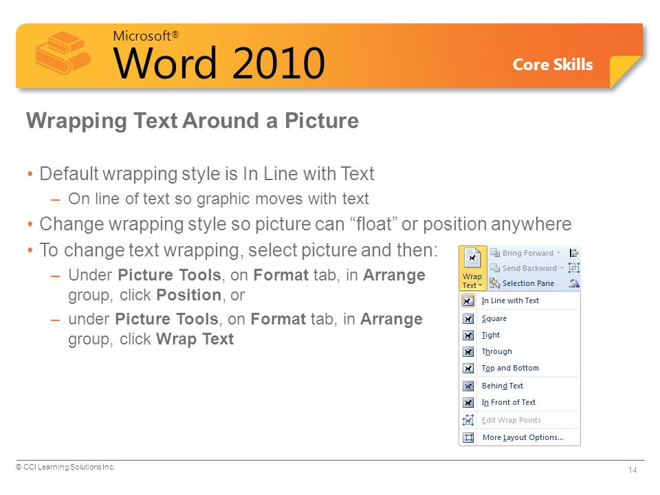 Wrapping Text Around a Picture