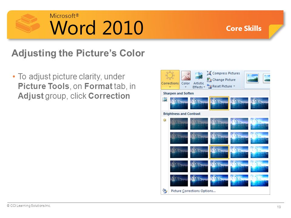 Adjusting the Picture's Color