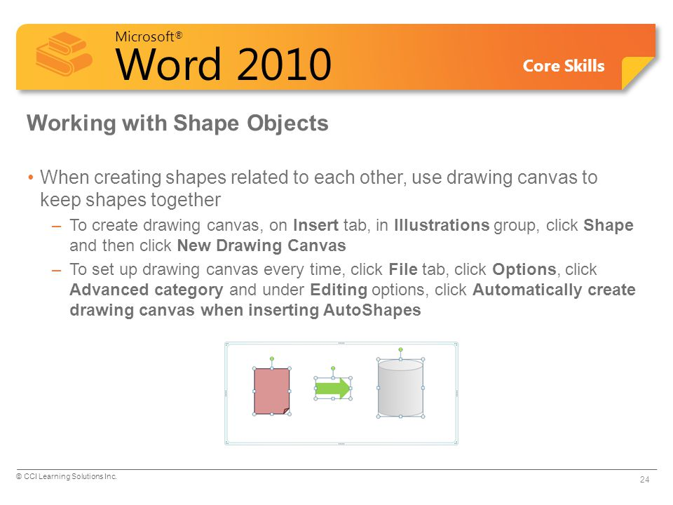 Working with Shape Objects