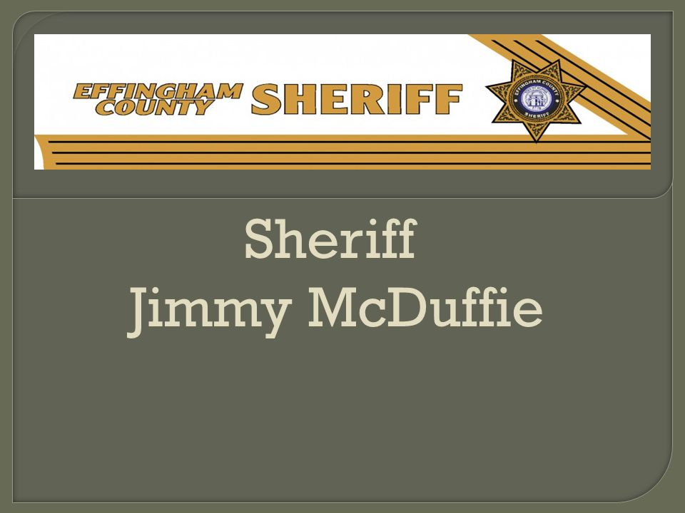 Sheriff Jimmy McDuffie