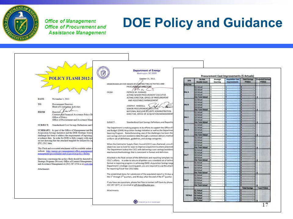 DOE Policy and Guidance