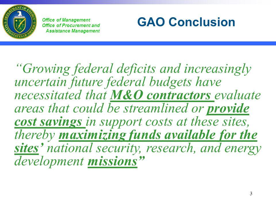 GAO Conclusion