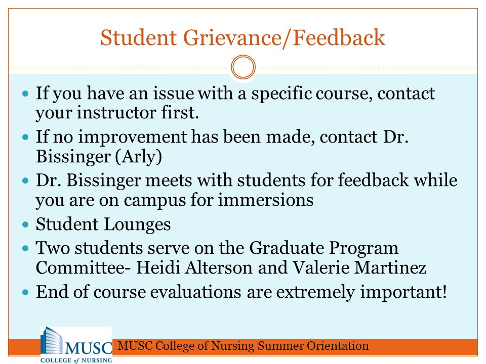 Student Grievance/Feedback